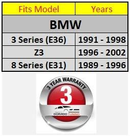 Volante Deportivo M/ÁS Pi/ña de Volante//Volante Deportivo di/ámetro 320 mm//DoradoTuning Adecuado BMW e36 3 Series /_BMW e31 8 Series T/ÜV/_M10/_70 /_BMW Z3