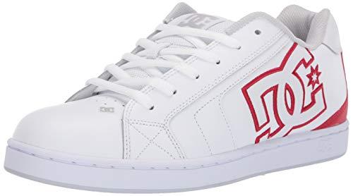 DC Men's NET Skate Shoe, Athletic red/White, 9.5 M US