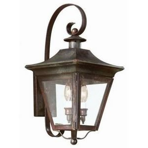 Troy Lighting BCD8930NR Oxford 2Lt Wall Lantern from Oxford - Brass Oxford Collection