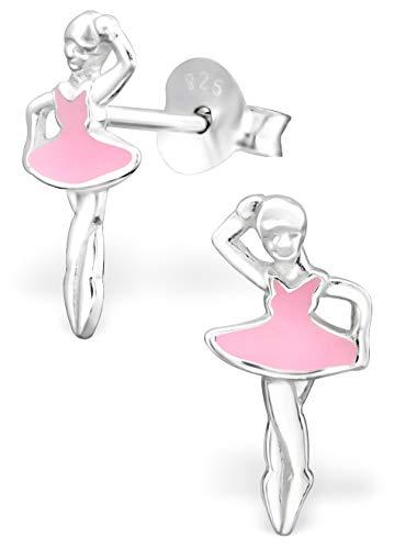 - Hypoallergenic Sterling Silver Ballet Dancer Earrings for Kids (Ballerina)
