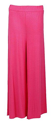 Fast Fashion Mujer Pantalones Plain ancho Pierna abgefac Kelt Palazzo fucsia