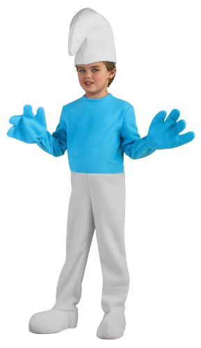 [The Smurfs Movie 2 Deluxe Smurf Costume, Small] (Smurf Costume 2 Year Old)