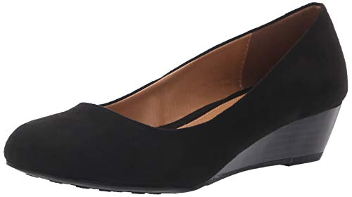 CL by Chinese Laundry Women's Marcie Wedge Pump, Black Super Suede, 10 M ()