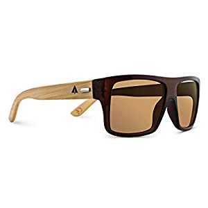 TREEHUT¨ Wooden Bamboo Sunglasses Temples Classic Aviator Retro Square Wood Sunglasses