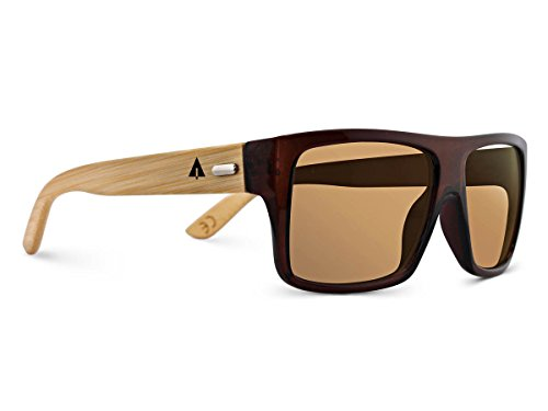 TREEHUT¨ Wooden Bamboo Sunglasses Temples Classic Aviator Retro Square Wood - Sunglass Quicksilver