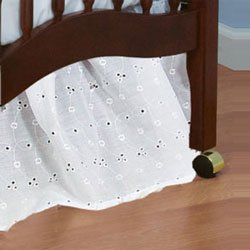 Portable Crib Eyelet Dust Ruffles