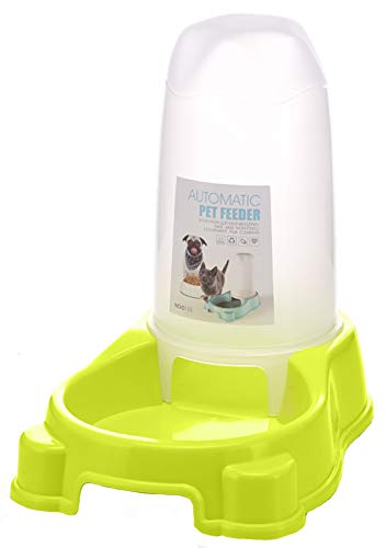 MaruPet Pet Water Feeder Dispenser, Automatic Pet Waterer,Dog Cat Water Food Combo,Pet Water Dispenser Station,Automatic Gravity Water Drinking Fountain Bottle Bowl Dish Stand 1200ml Green