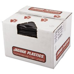 Jaguar Plastics R4046HH Repro Low-Density Can Liners, 2 Mil, 40 x 46, Black (Case of 100)