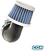 Motodak Filtre a air tunr d28-35 Conique KN PM coude 90/° Blanc