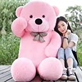 CLICK4DEAL LOVEABLE HUGABLE SOFT 5 FEET LONG HUGE PINK TEDDY BEAR(best for someone special) 152CM