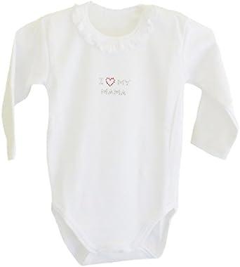 Body de bebé I love my Mama para niña blanco (manga larga): Amazon.es: Ropa y accesorios