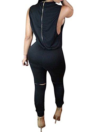 ffc2e5b87b20 Amazon.com  KAKALOT Women s Sexy Sleeveless Drawstring Knee Hole Pants  Jumpsuits Rompers  Clothing