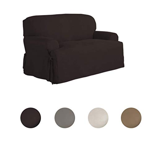 Serta   Relaxed Fit Smooth Suede Furniture Slipcover for T-L