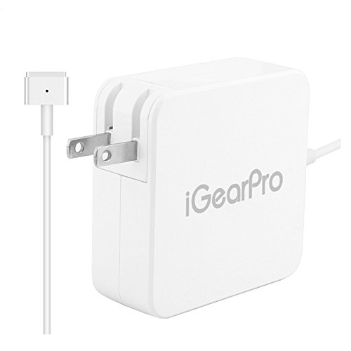 13 Inch Plug - Replacement Macbook Pro Charger by iGearPro, AC 60W T-Tip Magsafe Power Adapter For Apple Macbook Pro 13-inch Retina Display (After Late 2012) T-Shape Magnetic Connector (Foldable Plug)
