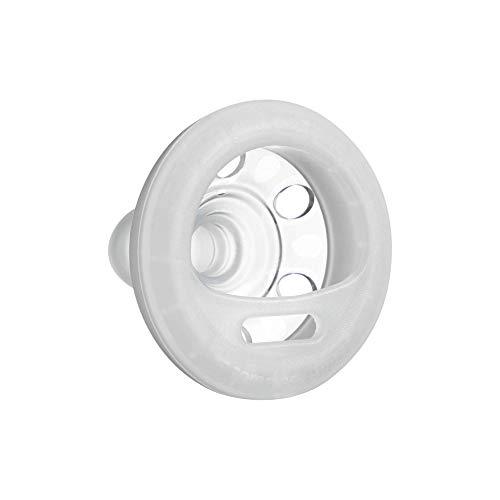 Tommee Tippee Closer to Nature Night Time Soother Pacifier - BPA-Free, Breast-Like Shape - White & Yellow - 0-6 Months, 2 Count