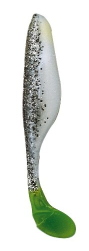 Bass Assassin Saltwater Sea Shad-4 Per Bag (Salt and Pepper Silver Phantom/Chartreuse Tail , (Shad Assassin Salt)