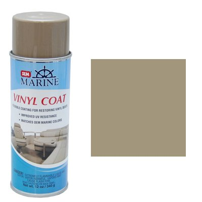 SEM Marine Carver Light Tan Vinyl Coat Vinyl and Plastic Rep