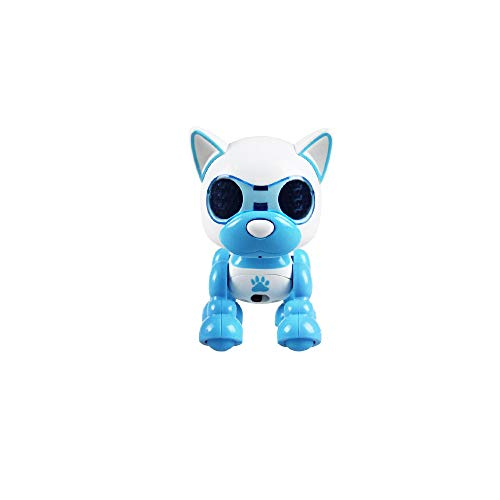 Wotryit Electronic Intelligent Pocket Pet Dog Interactive Puppy - Smart Puppy Robot Dog LED Eye Recording Singing Sleep CuteToy for Age 3 4 5 6 7 8 9 10 Year Old Boys Girls and Kids Gifts(Blue)