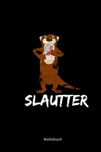 Notizbuch: A5 Kariert Otter Wortwitz | Horror Halloween Otter Schlachtbeil Blut | Seeotter Fischotter Geschenke Gruslig (German Edition)]()
