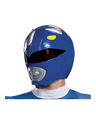 Disguise Men's Blue Ranger Adult Helmet, One -