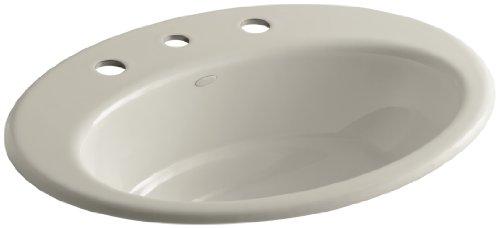 (KOHLER K-2907-8-G9 Thoreau Self-Rimming Bathroom Sink with 8
