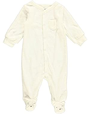 Unisex Baby Graphic Terry Footie (Baby) - Bear - 6 Months