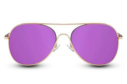 021 de Metálicas Mujeres Cheapass UV Diseñador Aviador 400 Espejadas Amarillo Piloto Hombres Ca Gafas Sol Gafas 6awv5qa