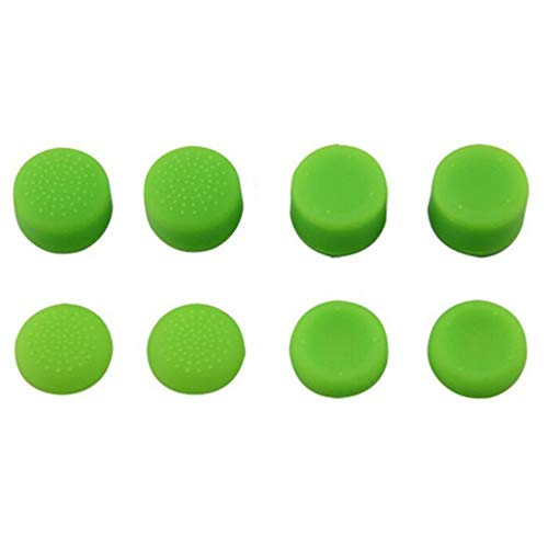 8PCS Protective Cap Cover Extra High Joystick Silicone Extended Analog Thumb Stick Grips Anti-Slip For Sony Playstation PS3 PS4 XBOX 360 Controller (Control Freaks Xbox 360 Green)
