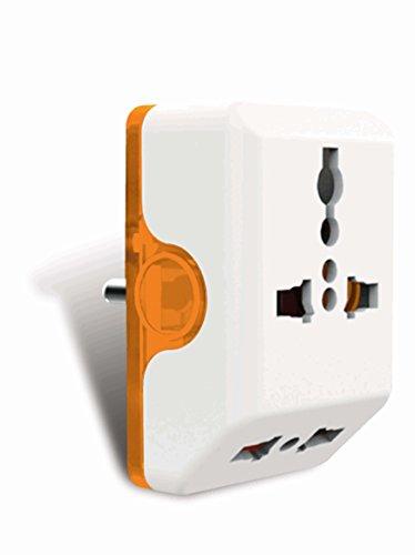 Norwood 3 Pin Angular Multi Plug, Orange