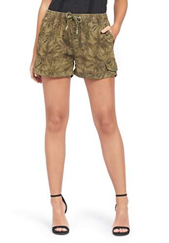 Skinny Donna Jungle Print Khujo Palmen Pantaloncini SwYCaq