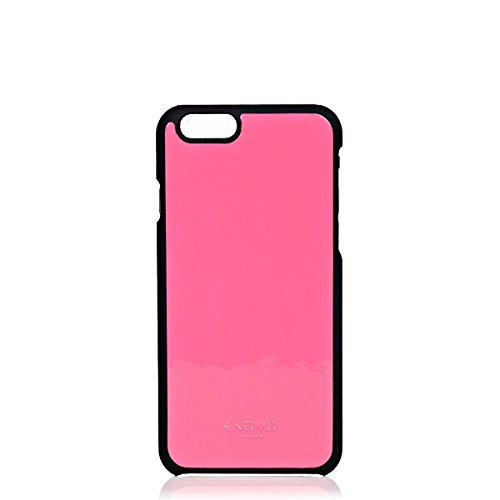 Knomo iPhone 6 Moulded Case Leather, Fluro Pink, 14-210-FLP (Leather, Fluro Pink Soho Tech iPhone Cases)