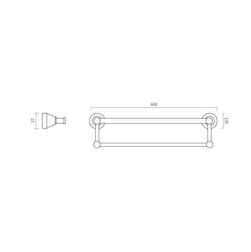 Yomiokla Bathroom Accessories - Kitchen, Toilet, Balcony and Bathroom Metal Towel Ring European Space Aluminum White Single Lever Double Lever Part 2