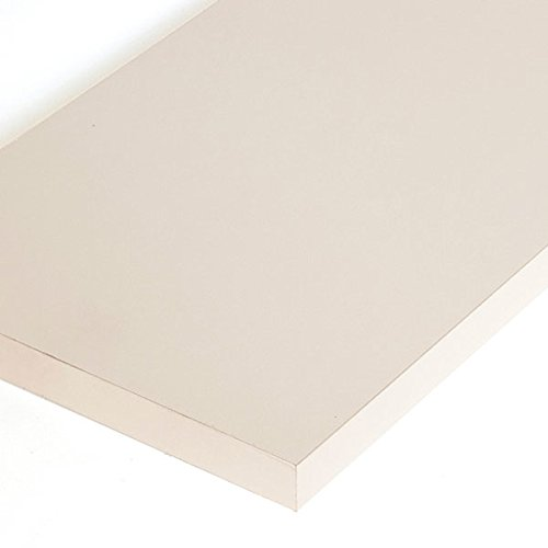 Pack of 4 New Almond Melamine Shelf Measures 3/4''-thick 14'' x 48'' by Melamine Shelf