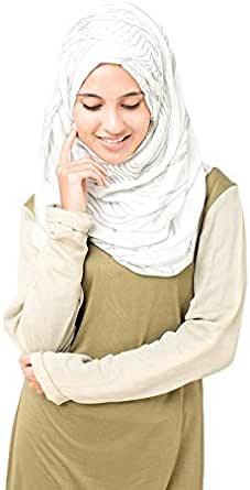 Gardenia Highrise Scarf, SILK ROUTE Casual Hijab For Women, Viscous Fabric