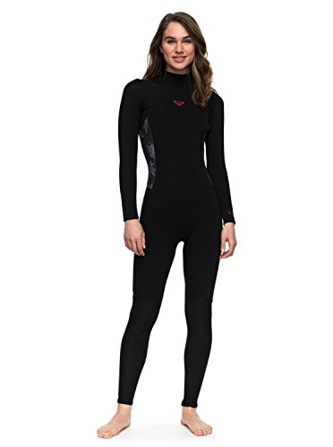 Roxy Womens Roxy 3/2Mm Syncro Series - Back Zip Wetsuit - Women - 4 - Black Black - Wetsuits Good