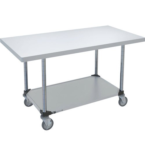 (Metro MWT305FS HD Super Stainless Steel 304 Mobile Worktable with Bottom Shelf, 48