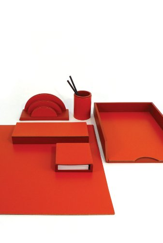 Zettelbox Fuchsia f/ür Notizzettel und Post It Zettelhalter aus Holz und Leder Handarbeit hochwertig