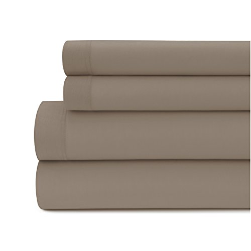 Briarwood Home 150 GSM Solid Modal Jersey Deep Pocket Bed Sheet Set, 100% Silky Modal Bed Sheets (Queen, Fossil) -  SSMJQU044