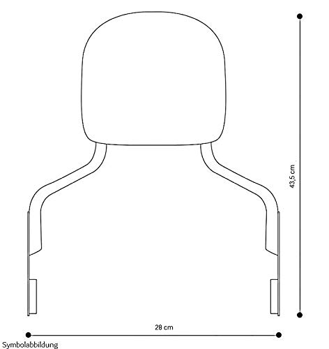 Sissy Bar with Rear Rack detachable for Harley Davidson Road King 97-08