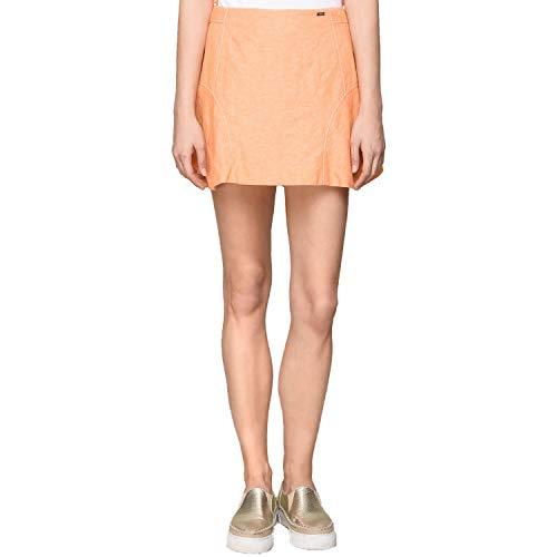 A X Armani Exchange Women's Paneled Linen-Blend Skort (14, Light Orange)