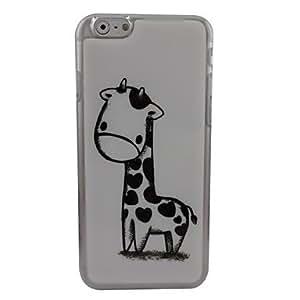 TOPQQ Lovely Giraffe Plastic Hard Back Cover for iPhone 6 Plus