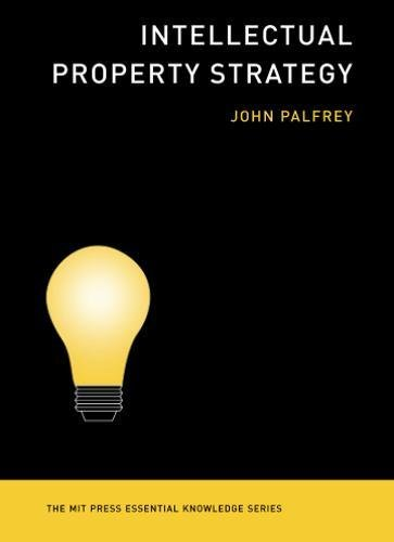 Intellectual Property Strategy  The Mit Press Essential Knowledge Series