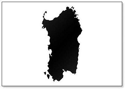 Cartina Sardegna Bianco E Nero.Calamita Da Frigorifero Con Mappa Della Sardegna Amazon It Casa E Cucina