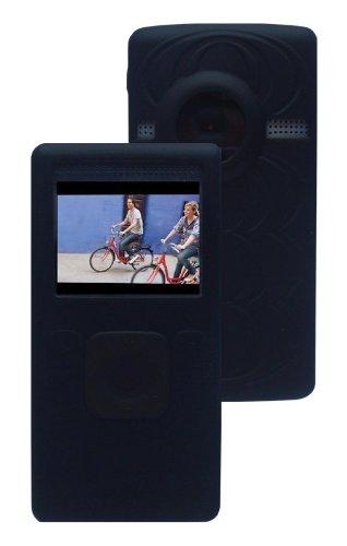 iShoppingdeals - for Flip UltraHD Video Camera 8GB 3rd Generation U32120B/U32120W Soft Silicone Skin Case Cover, Black