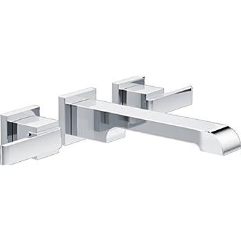 Delta Faucet Delta T3567LF-WL Ara Two Handle Wall-Mount Bathroom ...