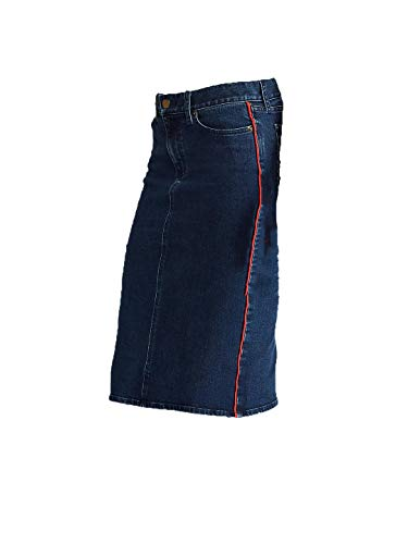 Lauren Ralph Lauren Womens Daniela Denim Straight Skirt Blue 14 -