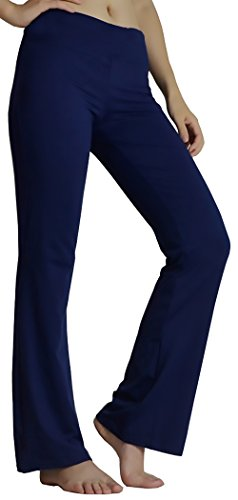 27e095db35 TONLEN Bootleg Yoga Pants Women's Yoga Leggings Workout Pants Dark Blue S