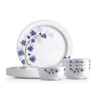 Famacart Round Melamine Dinner Set 18 -Pieces Serving Set