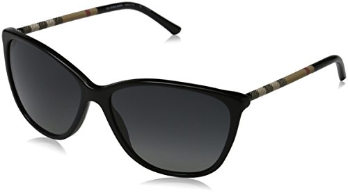 Burberry Sunglasses - 4117 / Frame: Black Lens: Polarized Gray - Burberry Polarized Sunglasses