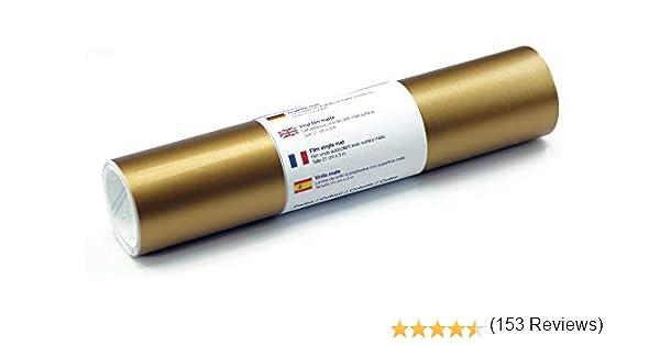 Lámina de tatuaje de pared mate 21 cm x 3 m - elección de colores, Color:Oro: Amazon.es: Hogar